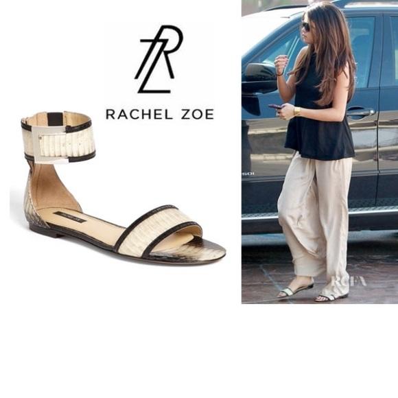 Rachel Zoe Twotone Snakeskin Sandal Sz